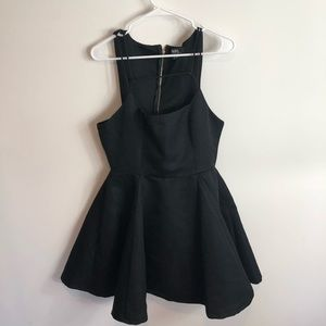 Lulu's Black Fit and Flare Skater Dress XL